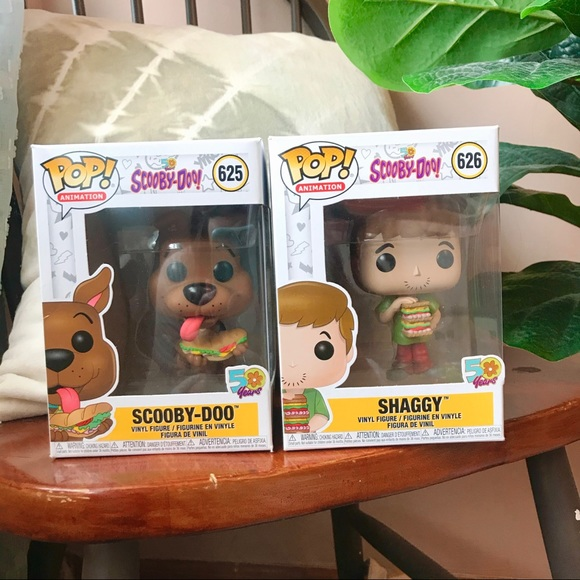 Scooby-Doo #625 & Shaggy #626 Sandwich Funko Pops